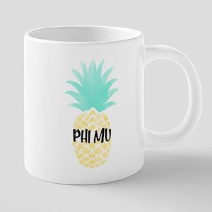 Phi Mu Pineapple 20 oz Ceramic Mega Mug