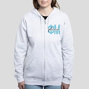 Phi Mu Polka Dots Women's Zip Hoodie