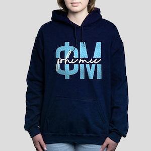 Phi Mu Polka Dots Women's Hooded Sweatshirt