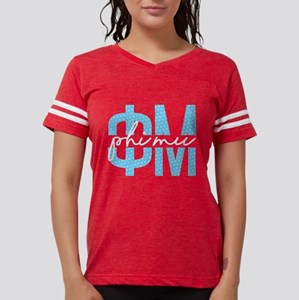 Phi Mu Polka Dots Womens Football T-Shirts