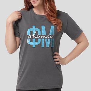 Phi Mu Polka Dots Womens Comfort Color T-shirts