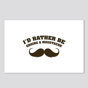 I'd rather be groing a moustache Postcards (Packag