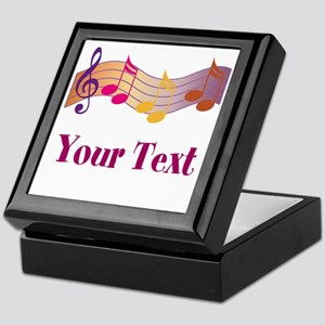Personalized Music Staff Gift Keepsake Box