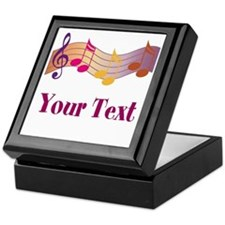 Personalized Music Staff Gift Keepsake Box