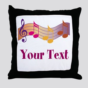 Personalized Music Staff Gift Throw Pillow
