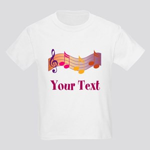 Personalized Music Staff Gift Kids Light T-Shirt