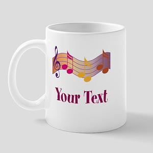 Personalized Music Staff Gift Mug