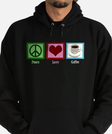 Peace Love Coffee Hoodie (dark)
