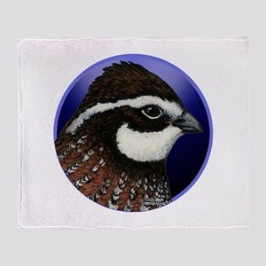 Bobwhite Quail 2 Throw Blanket