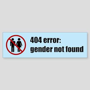 Gender Not Found Sticker (Bumper)