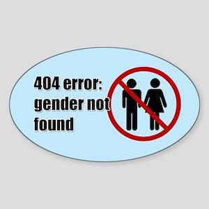 Gender Not Found Sticker (Oval)