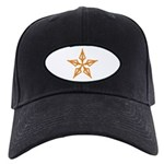 Shooting Star Black Cap with Patch