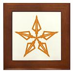 Shooting Star Framed Tile