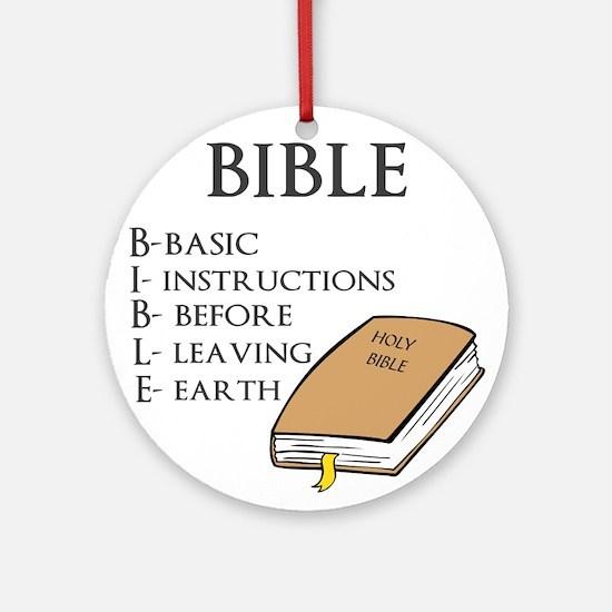 BIBLE Ornament (Round)