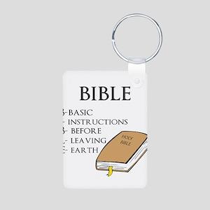 BIBLE Aluminum Photo Keychain