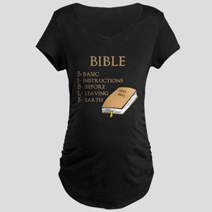 BIBLE Maternity Dark T-Shirt