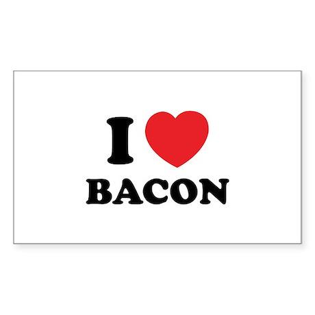 I love bacon Sticker (Rectangle)