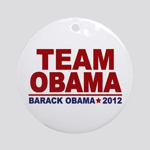 Team Obama 2012 Ornament (Round)