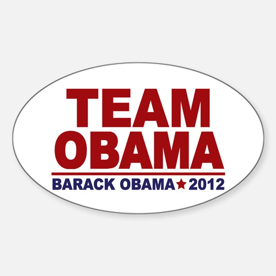 Team Obama 2012 Sticker (Oval)