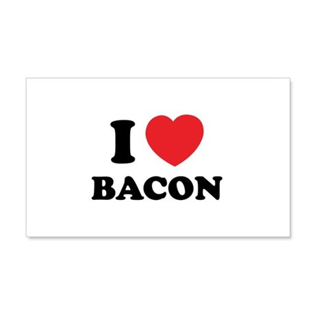 I love bacon 22x14 Wall Peel