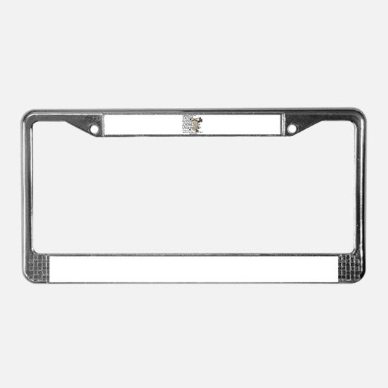 Blessed is the man License Plate Frame