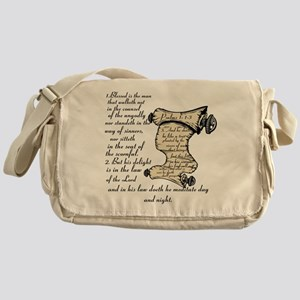 Blessed is the man Messenger Bag
