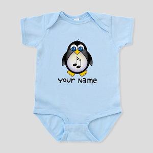 Personalized Music Penguin Infant Bodysuit