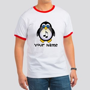Personalized Music Penguin Ringer T