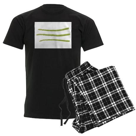 Asparagus Inspires Gentle Tho Men's Dark Pajamas