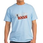 Voiceover Rocks (Red) Light T-Shirt