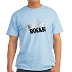 Voiceover Rocks (Black) Light T-Shirt