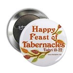 """Happy Feast of Tabernacles 2.25"""" Button"""