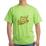 Happy Feast of Tabernacles Green T-Shirt