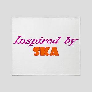 Inspired By Ska Throw Blanket