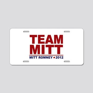 Team Mitt 2012 Aluminum License Plate