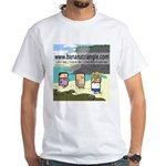 White T-Shirt featuring Scotty, Tom and Rosemary
