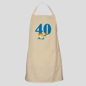 40th Anniversary w/ Wedding Rings Apron