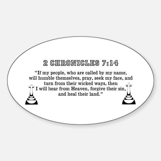 Cross Army Sticker (Oval)