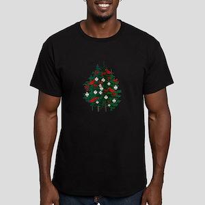 Baseball Christmas Tree Men's Fitted T-Shirt (dark