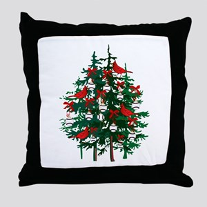 Baseball Christmas Tree Throw Pillow