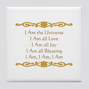 I Am the Universe Tile Coaster