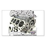 Original V8 Sticker (Rectangle 50 pk)