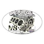 Original V8 Sticker (Oval 50 pk)