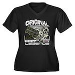 Original V8 Women's Plus Size V-Neck Dark T-Shirt