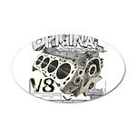 Original V8 38.5 x 24.5 Oval Wall Peel