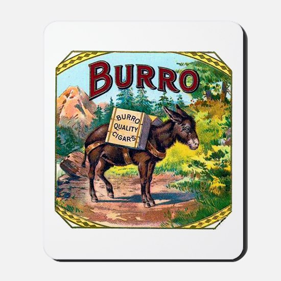 Burro Cigar Label Mousepad