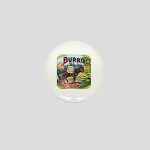 Burro Cigar Label Mini Button