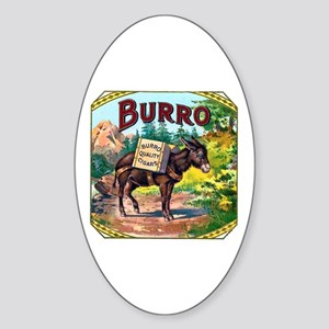 Burro Cigar Label Sticker (Oval)