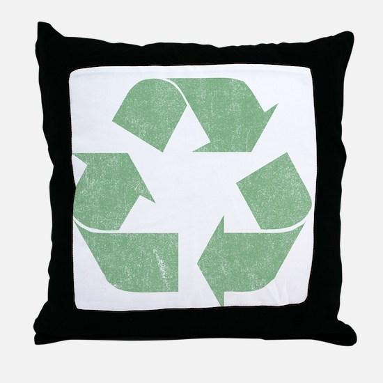 Vintage Recycle Logo Throw Pillow