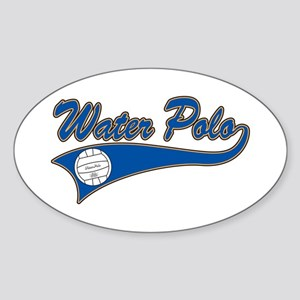 Water Polo 2 Oval Sticker